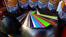 Colorful Rubber Spray Film